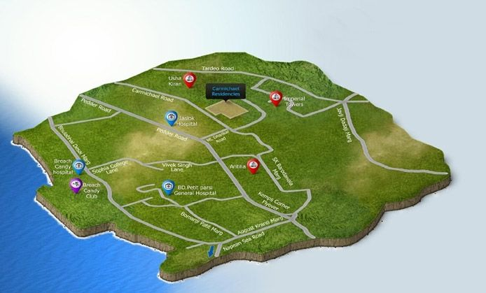 Peninsula Carmichael - location map