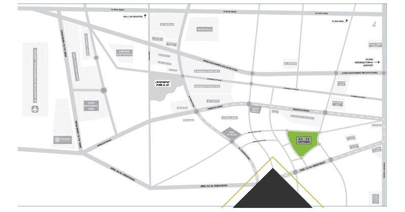 Aurum Villas - location map