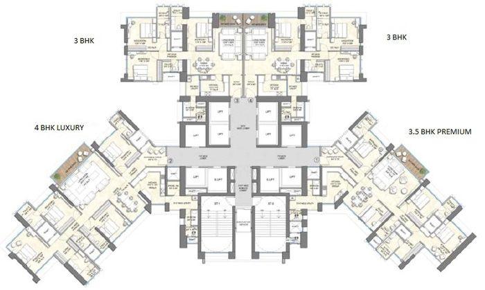 Wadhwa 25 South - Typical flr plan