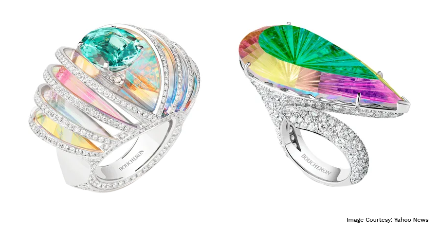 French Luxury Brand Boucheron's Holographique High Jewellery is Joyfully Colourful