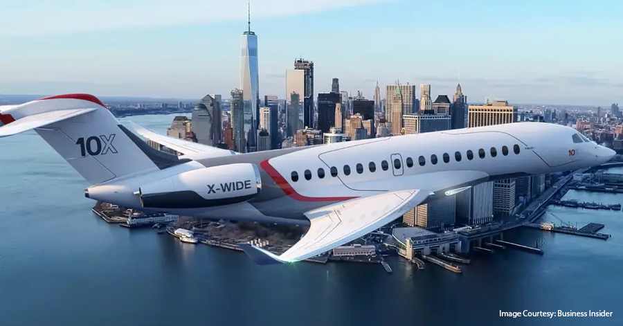 Packed With More Comfort & Range The Dassault Falcon 10X  is Indeed A New Age Luxury Business Jet